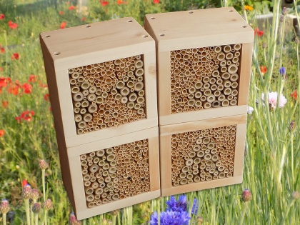 Wildbienen / Insekten Nistblock-Set, natur