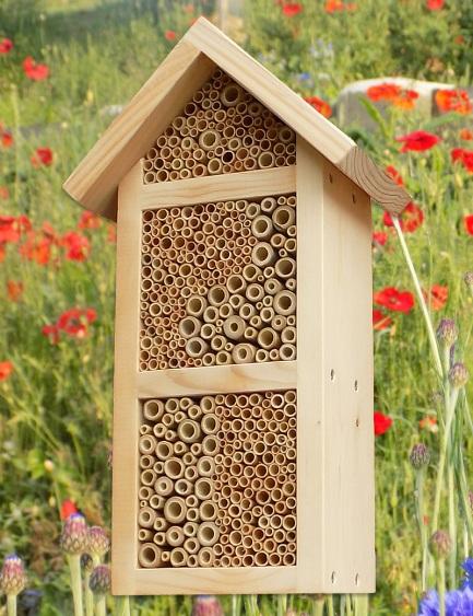 """Wildbienen / Insektenhotel """"3 Zimmer"""", natur"""