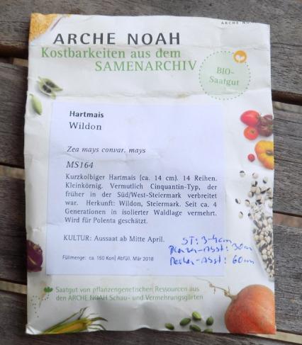 "Steirischer ""Urmais"" - Hartmais ""Wildon"" von Arche Noah"