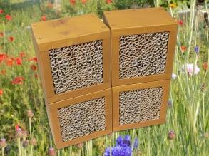 "Wildbienen / Insekten Nistblock-Set, lasiert ""Kiefer"""